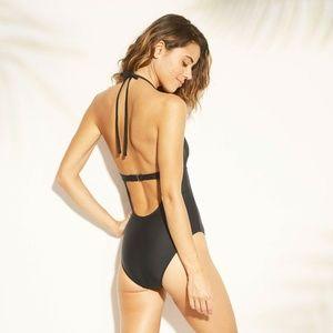 Xhilaration Swim - NWT Xhilaration Tie Cut Out Swimsuit XL Black